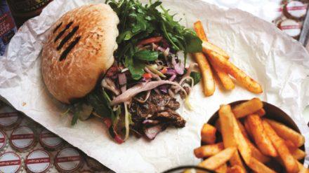 Pork burger. Turtle Bay
