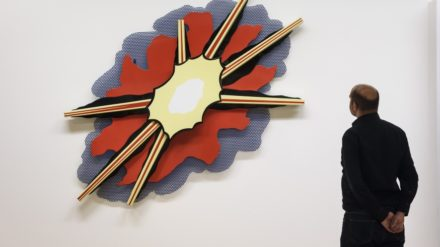Wall Explosion II 1965 by Roy Lichtenstein on display in ARTIST ROOMS: Roy Lichtenstein in Focus, © Tate Liverpool, Roger Sinek