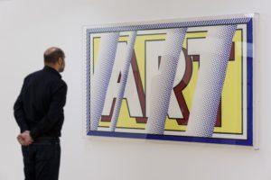 Reflections: Art 1988 by Roy Lichtenstein on display in ARTIST ROOMS: Roy Lichtenstein in Focus, © Tate Liverpool, Roger Sinek