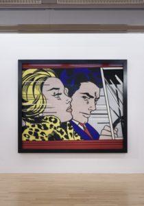 In the Car 1963 by Roy Lichtenstein on display in ARTIST ROOMS: Roy Lichtenstein in Focus, © Tate Liverpool, Roger Sinek