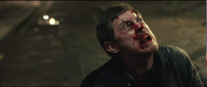HABIT Eliot J Langridge as Michael blood on face