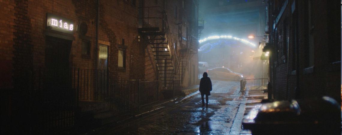 HABIT Ext of Mia alley with Eliot J Langridge as Michael