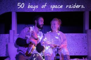 RET Reuben Johnson (Shaun), Rachel Denning (Dent) in Cosmic Scallies