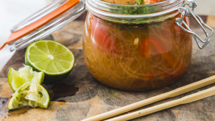 Tom Yum Rice Vermicelli Noodle Pot