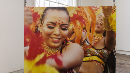 Ash Howland Davenport - Dancers in Orange. Baronquilla Festival, Colombia.