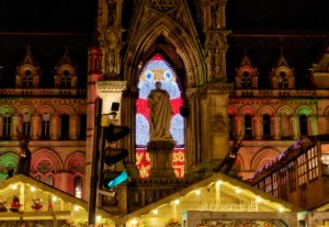 Zippy Santa, Manchester Christmas Market, Albert Square, image by Louise Casey (@louisecifer)