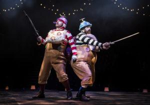 Michael Blair & Andrew Bleakley as Tweedle Dee & Tweedle Dum