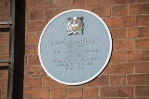 Emmeline Pankhurst's Blue Plaque © Pankhurst Trust