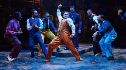 RET & Talawa - Guys&Dolls - Centre Kurt Kansley (Harry The Horse) and Cast - Image Manuel Harlan