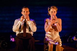 Jim Sturgeon as Alec and Isabel Pollen as Laura in Brief Encounter, credit Steve Tanner