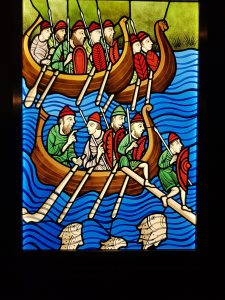 Jorvik Viking stained glass