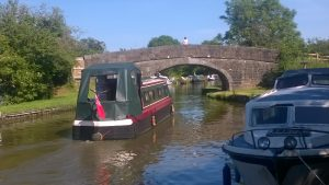Lancaster Canal Boats Near Garstang