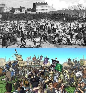 Peterloo. Illustration by Paul Fitzgerald.