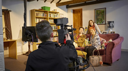 Action! Guests step into the spotlight and film their own mini-scene in Smithy Cottage to share on social media