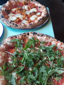 Vegan/veggie pizzas at PLY, Manchester