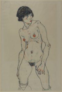 Egon Schiele, 1890-1918 Standing Nude Girl 1914 Graphite on paper Germanisches Nationalmuseum, Nürnberg Image courtesy: Germanisches Nationalmuseum, Nürnberg