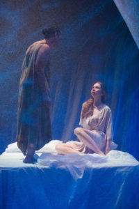 Othello, Golda Rosheuvel as Othello & Emily Hughes as Desdemona-Photograph by Jonathan Keenan JKP
