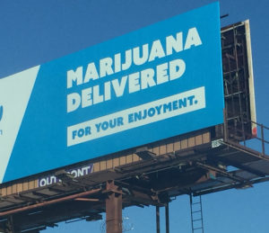 Poster for Eaze cannabis home delivery service