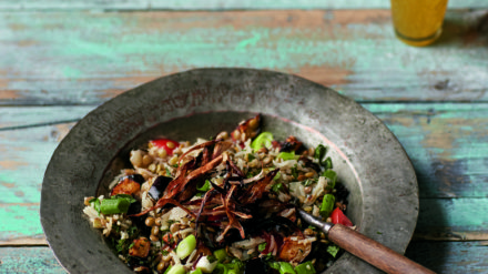 Green Lentil & Rice Salad