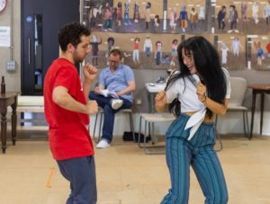 # The Big I Am in rehearsal, Nathan McMullen & Zelina Rebeiro, photo by Brian Roberts -0422