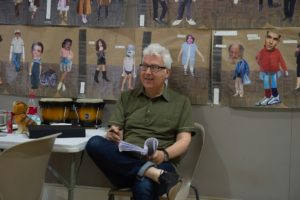 The Big I Am in rehearsal, Writer Robert Farquhar, photo by Brian Roberts
