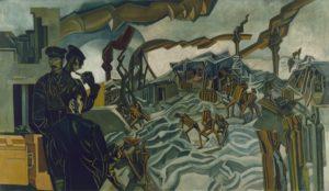 © IWM Art.IWM ART 2747 Percy Wyndham Lewis, A Battery Shelled, 1919