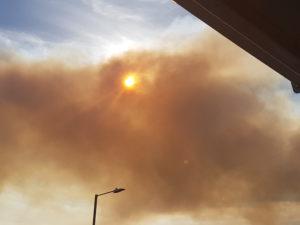 Moor fires, image by Claire Fleetneedle