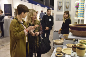 Visitors to the Great Northern Contemporary Craft Fair