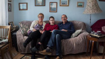 Lubecki Family: Monika, Agata and Wieslaw in their home of 4 years in Edinburgh