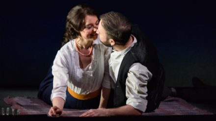 Katie Bray as Varvara and Alexander Sprague as Kudryash © Jane Hobson