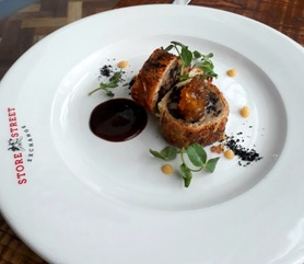 Bury black pudding and apple sausage roll