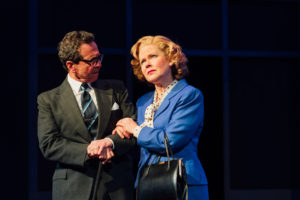 Andy Secombe and Eve Matheson in Handbagged. Photo Helen Murray