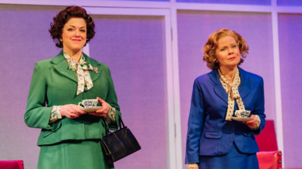Caroline Harker and Eve Matheson in Handbagged. Photo Helen Murray