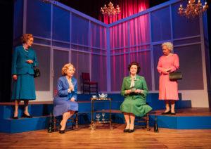Sarah Crowden, Eve Matheson, Caroline Harker and Susan Penhaligon in Handbagged. Photo Helen Murray